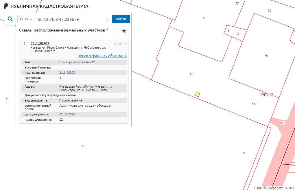 Публичная кадастровая карта - Информация о СРЗУ- Информация о СРЗУ