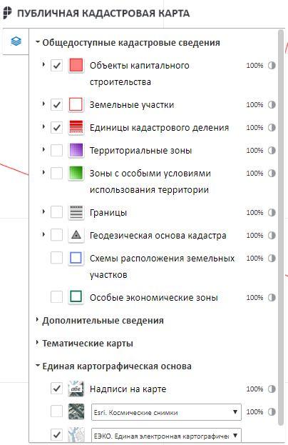 Публичная кадастровая карта Нижегородской области - Управление картой