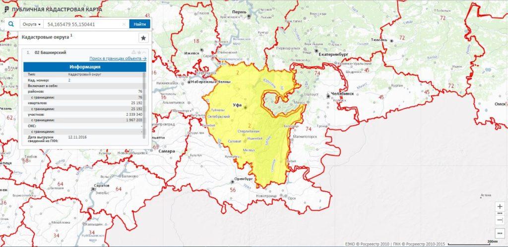 Публичная кадастровая карта Республики Башкортостан