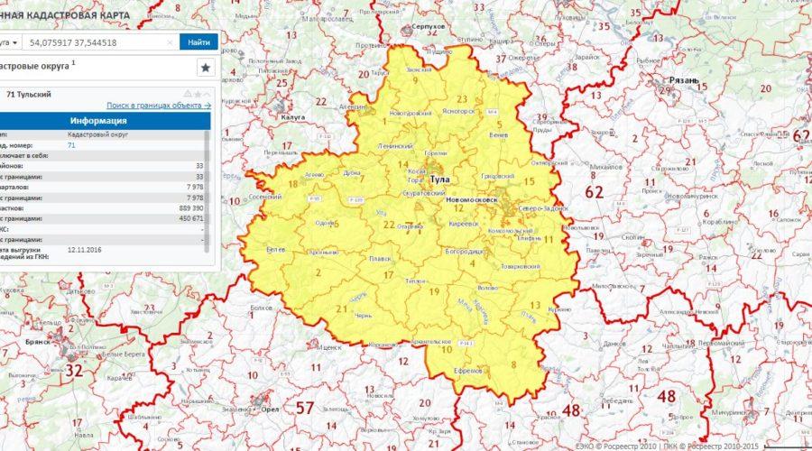 Публичная кадастровая топографическая карта